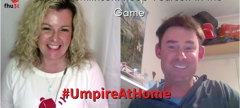 David Tomlinson #UmpireAtHome episode for #TBT on keep in the game