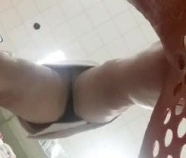 Blonde Almost Naked Shopping Public Upskirt