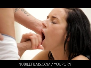 Nubile Movies – Small tit cutie bangs her partner until he cums in her mouth