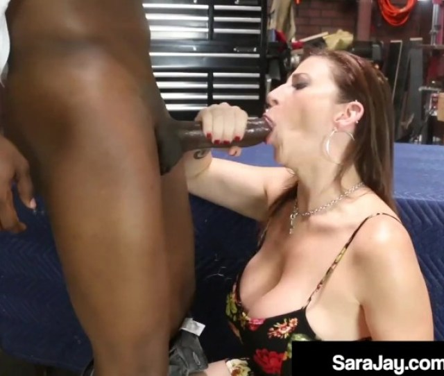 Busty Brunette Milf Sara Jay Bangs Blows Black Mechanic Free Porn Videos Youporn