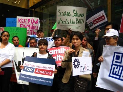 Rally outside Sen. Charles Schumer's Manhattan Office
