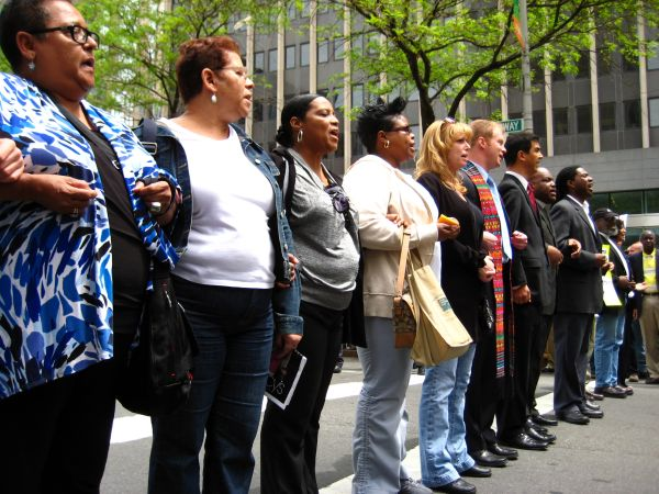 Civil Disobedience Against SB 1070 in New York City. Photo - New York Immigrant Coaltion