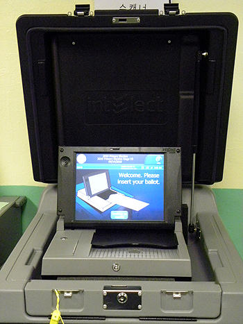The new electronic ballot reader in New York City - Photo: Ewa Kern-Jedrychowska