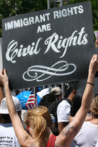 Sign at an immigration reform rally - Photo: Arasmus Photo