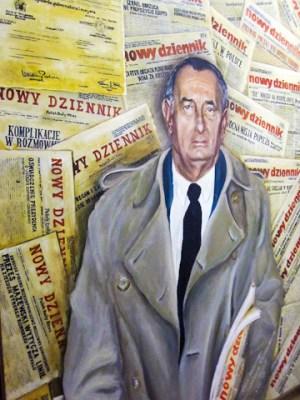 Mural at the offices of Nowy Dziennik Photo: Jocelyn Gonzales