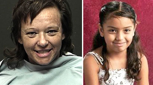 Shawna Forde (left) was convicted in the murder of 9-year-old Bricenia Flores and her father Raúl Flores via New America Media