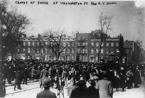 The fire at the Triangle Shirtwaist Factory on March 25, 1911 (Photo: Library of Congress)