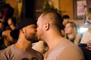 Celebrations after the passage of same-sex marriage legislation in New York