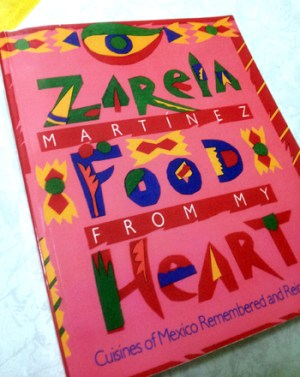 One of Zarela Martinez's cookbooks