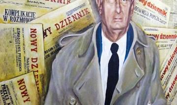 Mural at the offices of Nowy Djiennik Photo: Jocelyn Gonzales