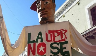 Puppet at a protest at the University of Puerto Rico - Photo: Solana Larsen