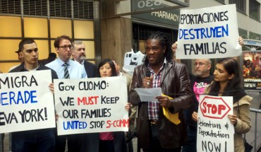 Immigrant advocates protest the Secure Communities program in New York State