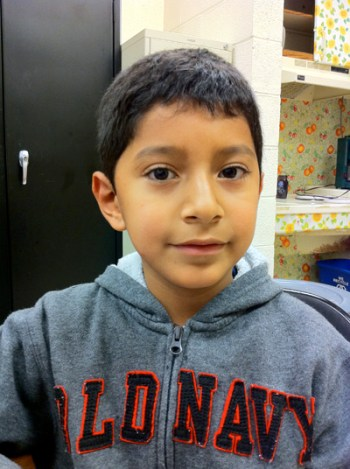 Elias Garcia, a third grader at PS 24