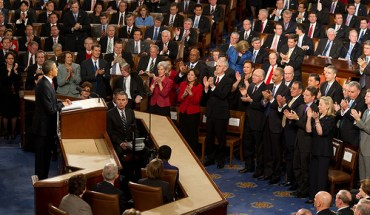 President Obama giving his 2012 State of the Union Address
