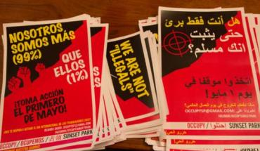 Occupy leaflets