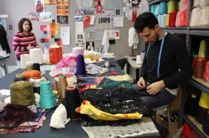 Pakistani student in the Fashion MFA program at The New School. (Photo: Carmel Pryor)