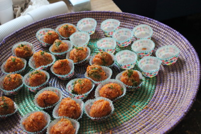 Hors d'oeuvres prepared by Pierre Thiam (Photo: Nyasha Laing)