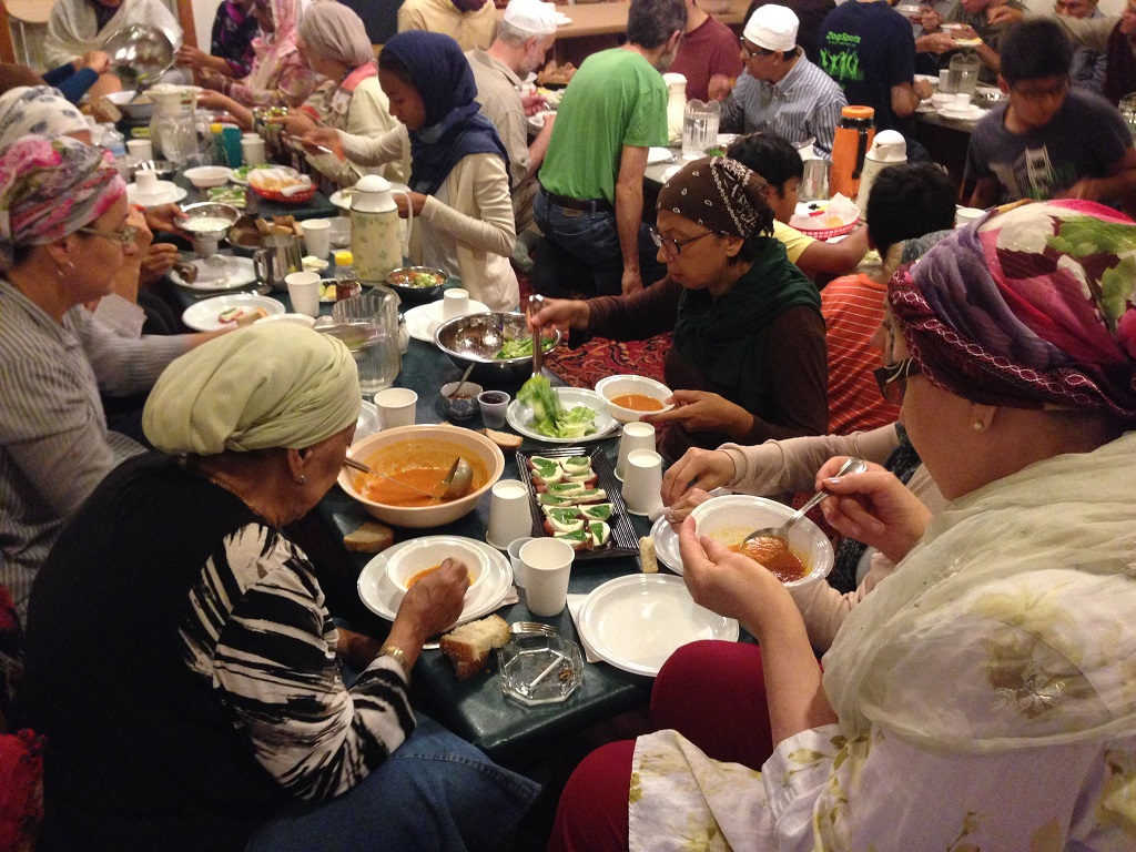 Sufi Mosque shared meal