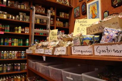 Medicinal herbs found in Botanicas. Photo: Camila Osorio