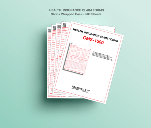 CMS 1500 Health Insurance Paper Claim Form  02 12    Fiachra Forms     CMS 1500 Paper Claim Form  02 12    500 Sheets