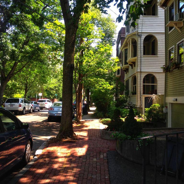 Cambridge, MA typical street