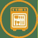 Copos que podem ser utilizados em máquinas de lavar