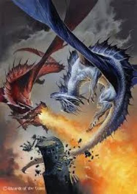 Fire and Ice, locked in battled, the only way out for one of them to kill  the other. After centuries of such fighti… | Fantasy dragon, Dragon fight,  Dragon pictures