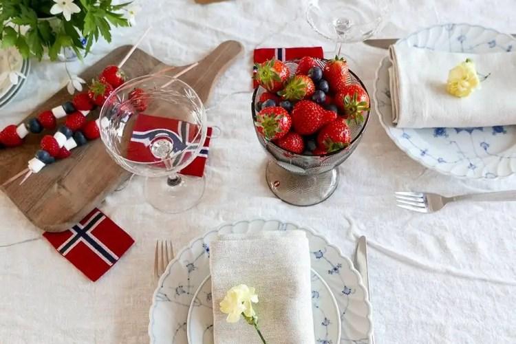 17.mai borddekking med Pavlova