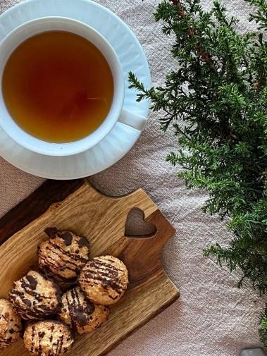 Kokostoppar och te