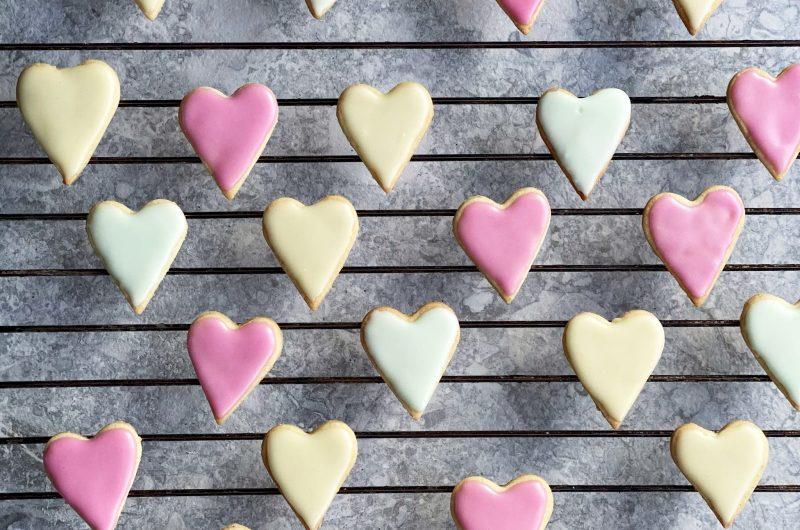 Hjärtkakor med glasyr