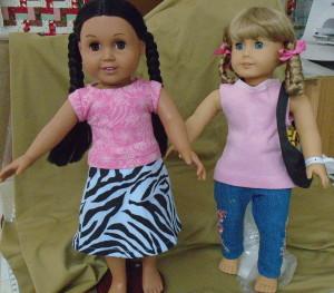 DSC00132 pink t, blue zebra skirt