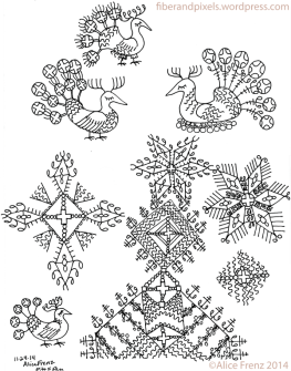 alice-frenz-pattern-motif-sketchbook-fancy-birds-peacock-star-cross-2014-11-24-001