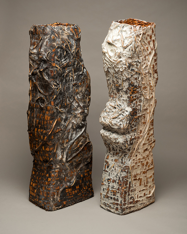 """Black White Totems"" by Kathey Ervin"