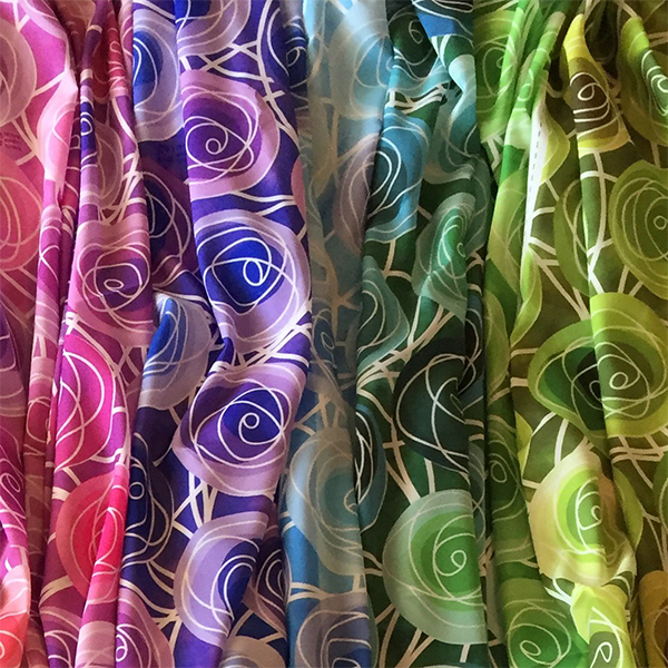 golden rule golden ratio rose bud scarves by Renne Emiko Brock
