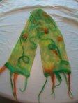 Nuno felted scarf, Fiberartsy.com