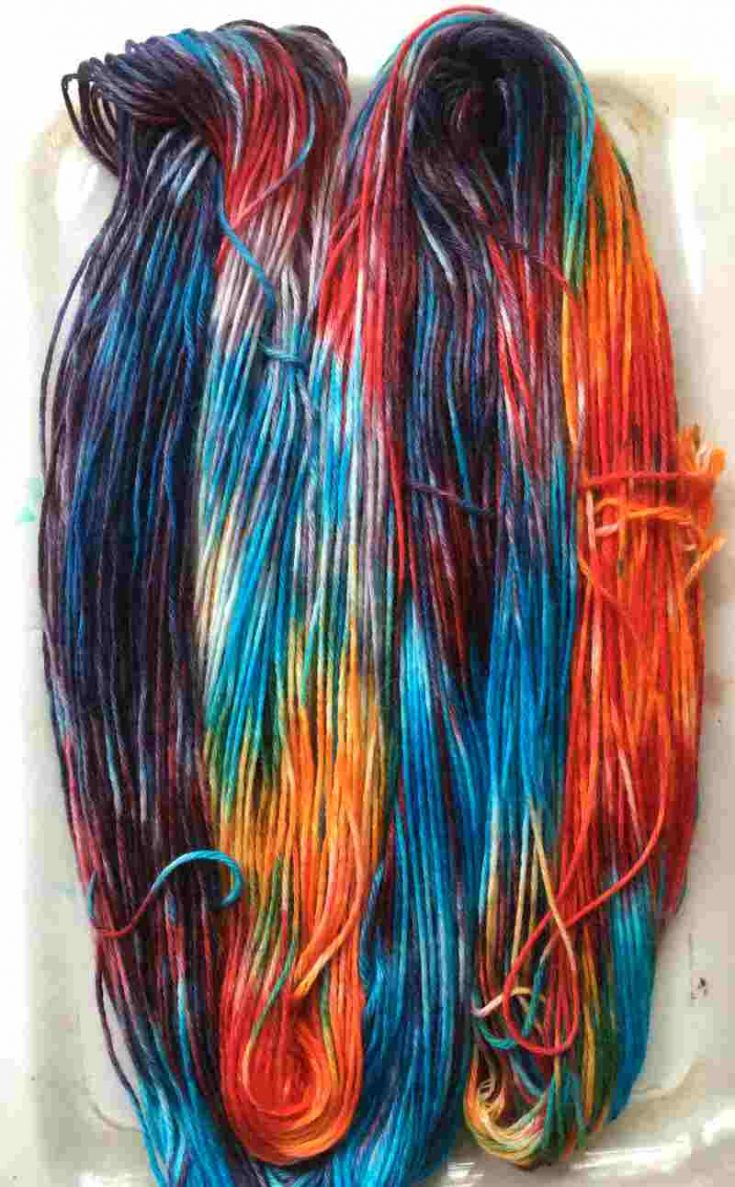 Finished yarn dyed with Kool Aid