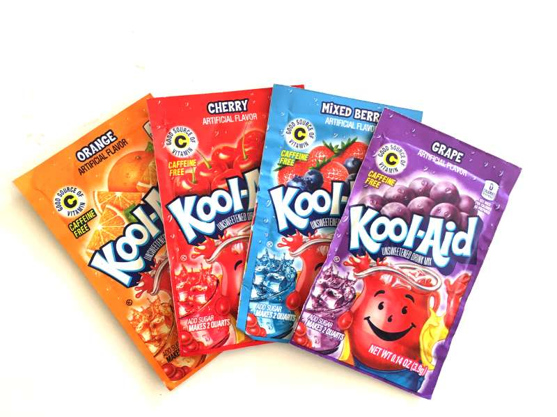Kool Aid drink packets