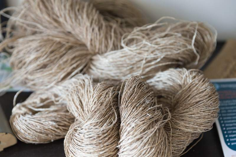 Natural wool yarn is highly susceptible to clothes moths