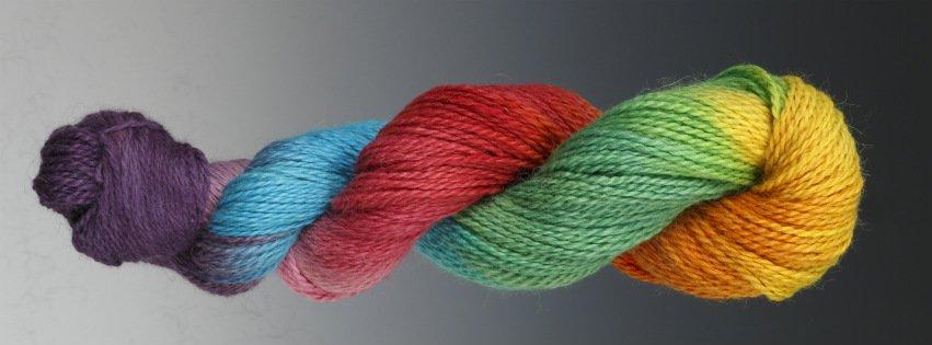 hand painted yarn skein