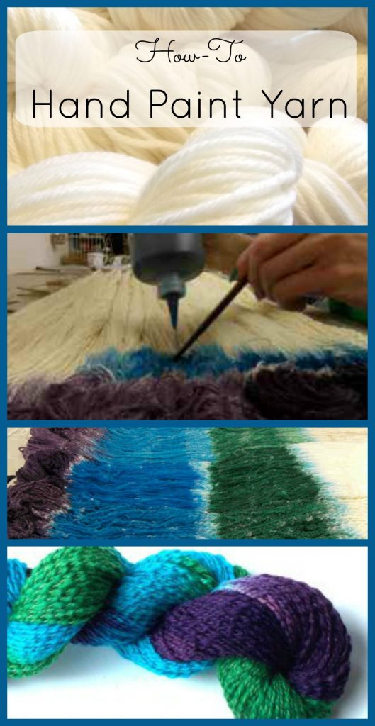 Why not dye your own beautiful yarn for that special knit or crochet project?  You too can learn how to Hand Paint Yarn. Hand painting is one yarn dyeing method. You can also find kettle dyeing and sprinkle dyeing tutorials at FiberArtsy.com