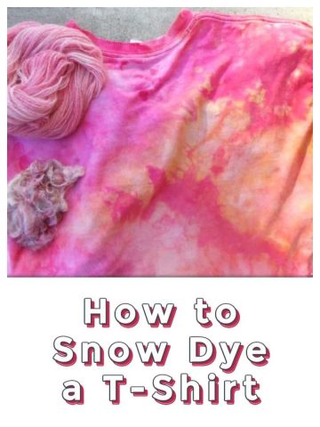 Step by Step How to Snow Dye or Ice Dye a Shirt