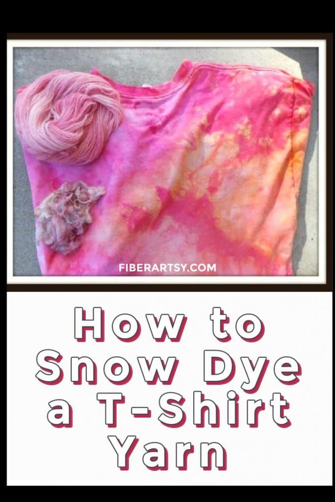 How to snow dye a shirt