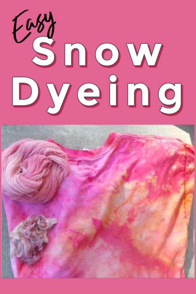 How to snow dye a shirt step by step tutorial
