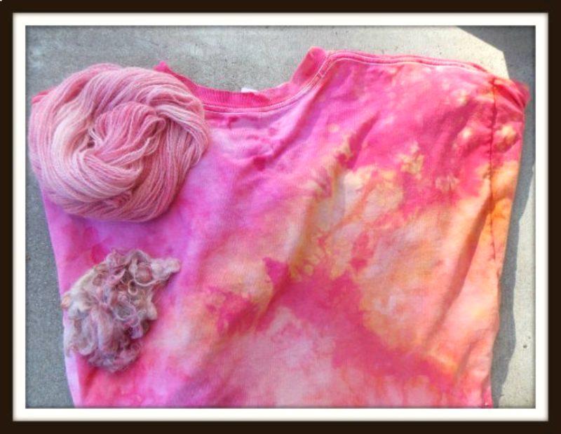 tutorial - how to snow dye a shirt