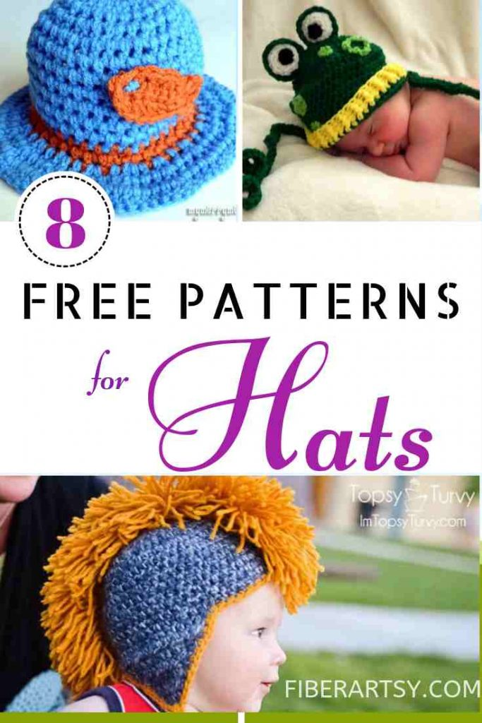 Free Patterns for Hats Knitting and Crochet