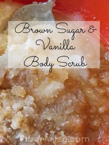 Brown Sugar Vanilla Body Scrub, Fiberartsy.com