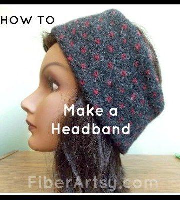 How to make a headband, ear warmer, Fiberartsy.com