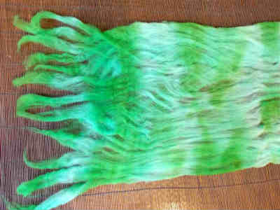 Making felted fringe for your wool felt scarf