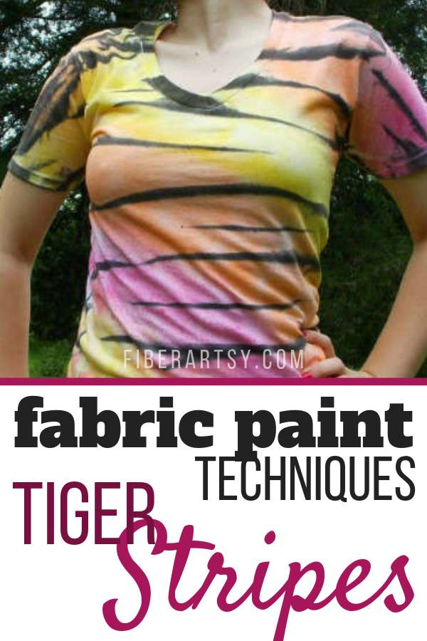 Tiger Stripes painted on a Tee Shirt