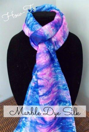 How to Marble Dye Silk Scarves, FiberArtsy.com